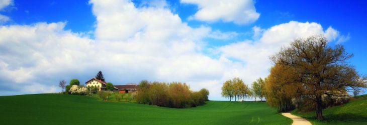 Holnburg im Frühling - Viele Wege laden zum Joggen, Walken, Radeln oder Wandern ein